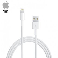 Cable USB Original iPhone 5 / 5s / 6 / 6 Plus / 7 / 7 Plus / iPad Mini / iPad 4 (Sin Blister) 1 metro