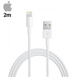 Cable USB Original iPhone 5 / 5s / 6 / 6 Plus / 7 / 7 Plus / iPad Mini / iPad 4 (Sin Blister) 2 metros