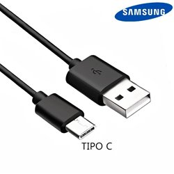 Cable USB Original Samsung Universal TIPO C Negro (Sin Blister)