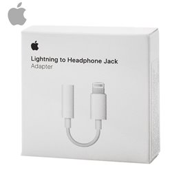 Adaptador Original Lightning Auriculares iPhone 7 / 7 Plus a Jack 3,5 (Con Blister)