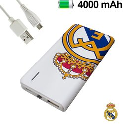 Bateria Externa Micro-usb Power Bank 4000 mAh Licencia Fútbol Real Madrid C.F.