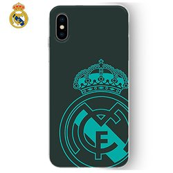 Carcasa iPhone X / iPhone XS Licencia Fútbol Real Madrid Verde Oscuro
