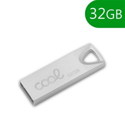 Pen Drive USB x32 GB 2.0 COOL Metal KEY Plata