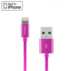Cable USB iPhone 5 / 6 / 7 / 8 / 8 Plus / IPhone X / IPad (Homologado Apple MFi) Rosa