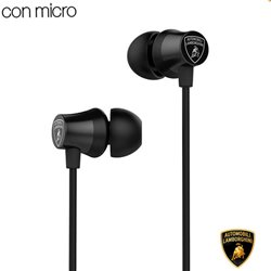 Auriculares 3,5 mm Stereo Licencia Oficial Lamborghini