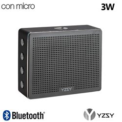 Altavoz Bluetooth Rectangular Metal YZSY Minti Black