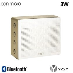 Altavoz Bluetooth Rectangular Metal YZSY Minti Gold