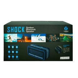 Altavoz Música Universal Bluetooth Outdoor Shock YZSY Black and Blue (30W)