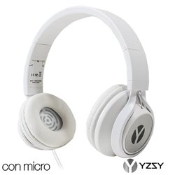Auriculares Cascos Lorca Universal Stereo YZSY White