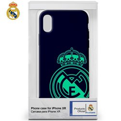 Carcasa iPhone XR Licencia Fútbol Real Madrid Marino