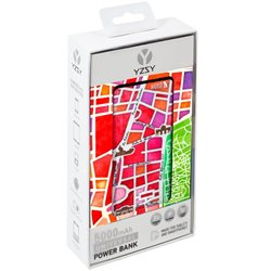 Bateria Externa Micro-usb Power Bank 5000 mAh City Madrid YZSY