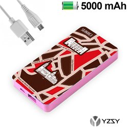 Bateria Externa Micro-usb Power Bank 5000 mAh City Salamanca YZSY