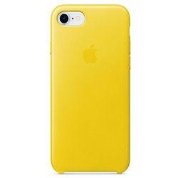 Funda Original iPhone 7 / iPhone 8 Trasera Leather Spring Yellow (Con Blister)