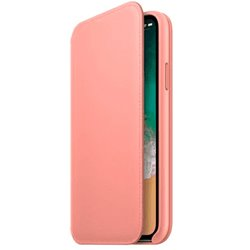 Funda Original iPhone X / iPhone XS Folio Leather Soft Pink (Con Blister)