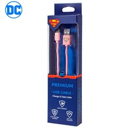 Cable USB Licencia DC Superman Universal Micro-USB
