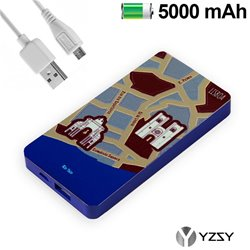 Bateria Externa Micro-usb Power Bank 5000 mAh City Lisboa YZSY
