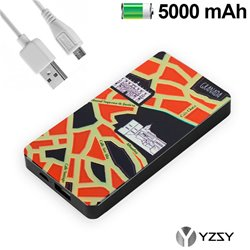 Bateria Externa Micro-usb Power Bank 5000 mAh City Granada YZSY