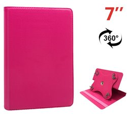 Funda Ebook / Tablet 7 pulg Polipiel Rosa Giratoria
