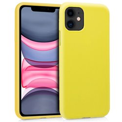 Funda Silicona iPhone 11 (Amarillo)