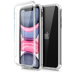 Funda Silicona 3D iPhone 11 (Transparente Frontal + Trasera)