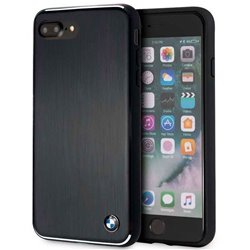Carcasa iPhone 6 Plus / IPhone 7 Plus / 8 Plus Licencia BMW Aluminio Negro