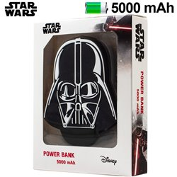 Bateria Externa Micro-usb Power Bank 5000 mAh Universal Licencia Star Wars Darth Vader