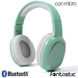Auriculares Stereo Bluetooth Cascos Splend Bass Boost Fontastic Mint