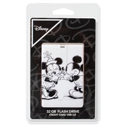 Pen Drive USB x32 GB Thin Licencia Disney Mickey and Minnie Gris