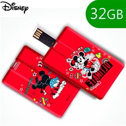 Pen Drive USB x32 GB Thin Licencia Disney Mickey and Minnie Rojo