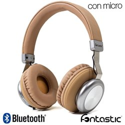 Auriculares Stereo Bluetooth Cascos Splend BaXx On-Ear Fontastic Marrón