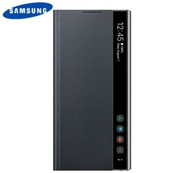 Funda Original Samsung N970 Galaxy Note 10 Clear View Negro (Con Blister)