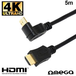 Cable HDMI a HDMI Audio-Video Universal Omega (5 metros) V1.4 Angular