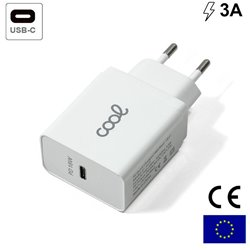 Cargador Red Universal Fast Charger (PD) Entrada Tipo-C COOL 3 Amperios Blanco