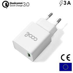 Cargador Red Universal Fast Adap. Charger 1 X USB COOL 3 Amperios Blanco