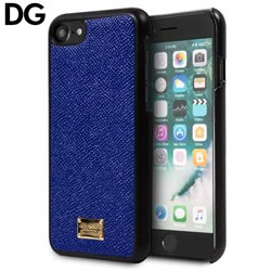 Carcasa iPhone 7 / iPhone 8 Licencia Dolce and Gabbana Liso Azul