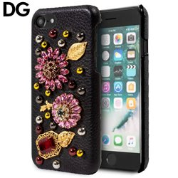 Carcasa iPhone 7 / iPhone 8 Licencia Dolce and Gabbana Perlas Flores