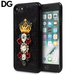 Carcasa iPhone 7 / iPhone 8 Licencia Dolce and Gabbana Perlas Negro