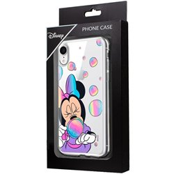 Carcasa iPhone XR Licencia Disney Minnie Burbujas