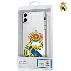 Carcasa IPhone 11 Licencia Fútbol Real Madrid Transparente