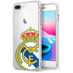 Carcasa iPhone 7 Plus / iPhone 8 Plus Licencia Fútbol Real Madrid Transparente