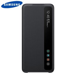 Funda Original Samsung G988 Galaxy S20 Ultra 5G Wallet Cover Smart Clear Negro (Con Blister)
