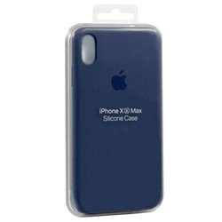 Funda Original iPhone X / iPhone XS Silicon Case Blue (Con Blister)