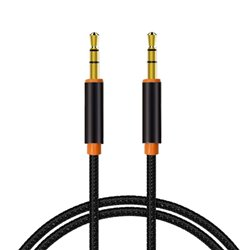 Cable Jack 3.5 mm a Jack 3.5 mm Audio-Audio Universal Negro (1m)