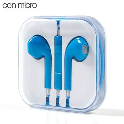 Auriculares 3,5 mm COOL Box Stereo Con Micro Azul