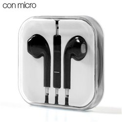 Auriculares 3,5 mm COOL Box Stereo Con Micro Negro