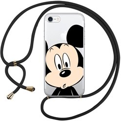 Carcasa iPhone 7 / 8 / SE (2020) Licencia Disney Cordón Mickey