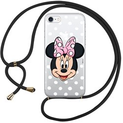 Carcasa iPhone 7 / 8 / SE (2020) Licencia Disney Cordón Minnie