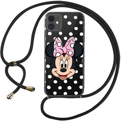 Carcasa iPhone 11 Licencia Disney Minnie Cordón