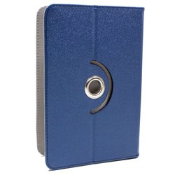 Funda Ebook / Tablet 7 pulg Polipiel Azul Giratoria