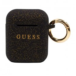 Funda Soft Silicona Apple Airpods / Airpods 2 Licencia Guess Glitter